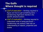 the gulfs where thought is required