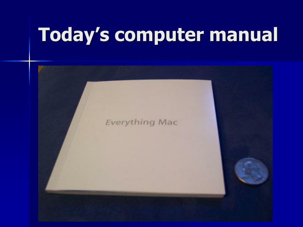 Today's computer manual