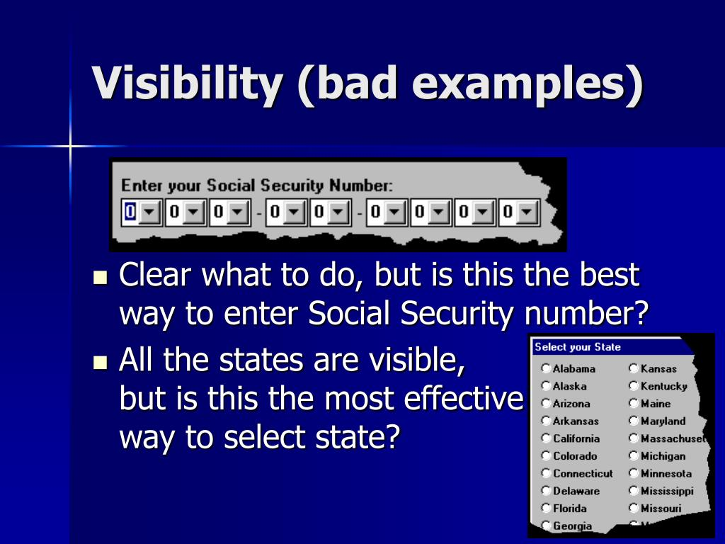 Visibility (bad examples)
