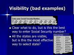 visibility bad examples