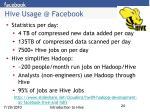 hive usage @ facebook