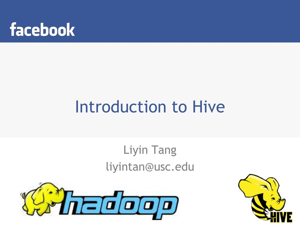 introduction to hive l.