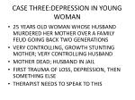 case three depression in young woman