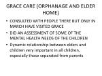 grace care orphanage and elder home