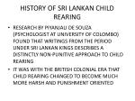 history of sri lankan child rearing