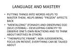 language and mastery
