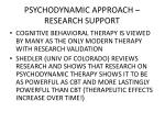 psychodynamic approach research support