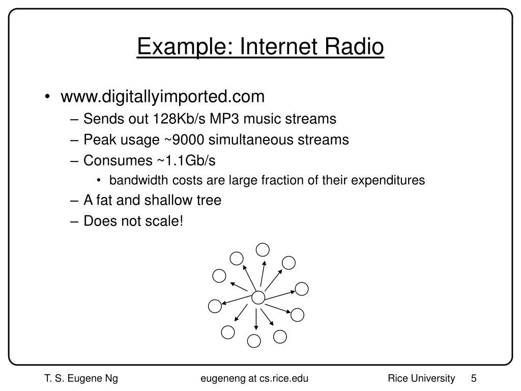 Example: Internet Radio