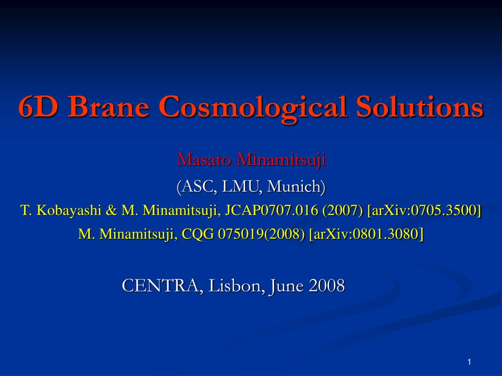 6d brane cosmological solutions l.