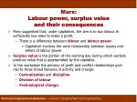 marx labour power surplus value and their consequences