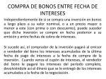 compra de bonos entre fecha de intereses
