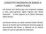 concepto inversion en bonos a largo plazo