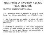 registro de la inversion a largo plazo en bonos