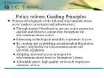 policy reform guiding principles