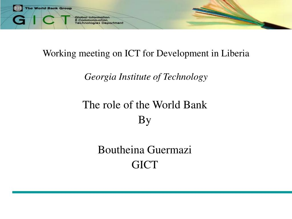 working meeting on ict for development in liberia georgia institute of technology l.