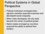 political systems in global perspective