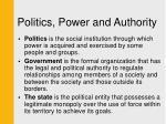 politics power and authority