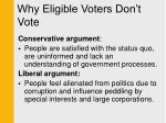 why eligible voters don t vote