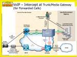 voip intercept at trunk media gateway for forwarded calls