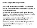 disadvantages of leasing include