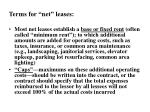 terms for net leases