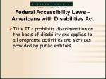 federal accessibility laws americans with disabilities act4