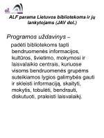 alf parama lietuvos bibliotekoms ir j lankytojams jav dol3