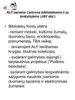 alf parama lietuvos bibliotekoms ir j lankytojams jav dol6