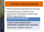 contract and goal setting
