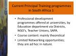 current principal training programmes in south africa 1