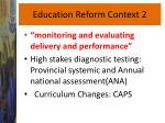 education reform context 2