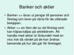 banker och aktier