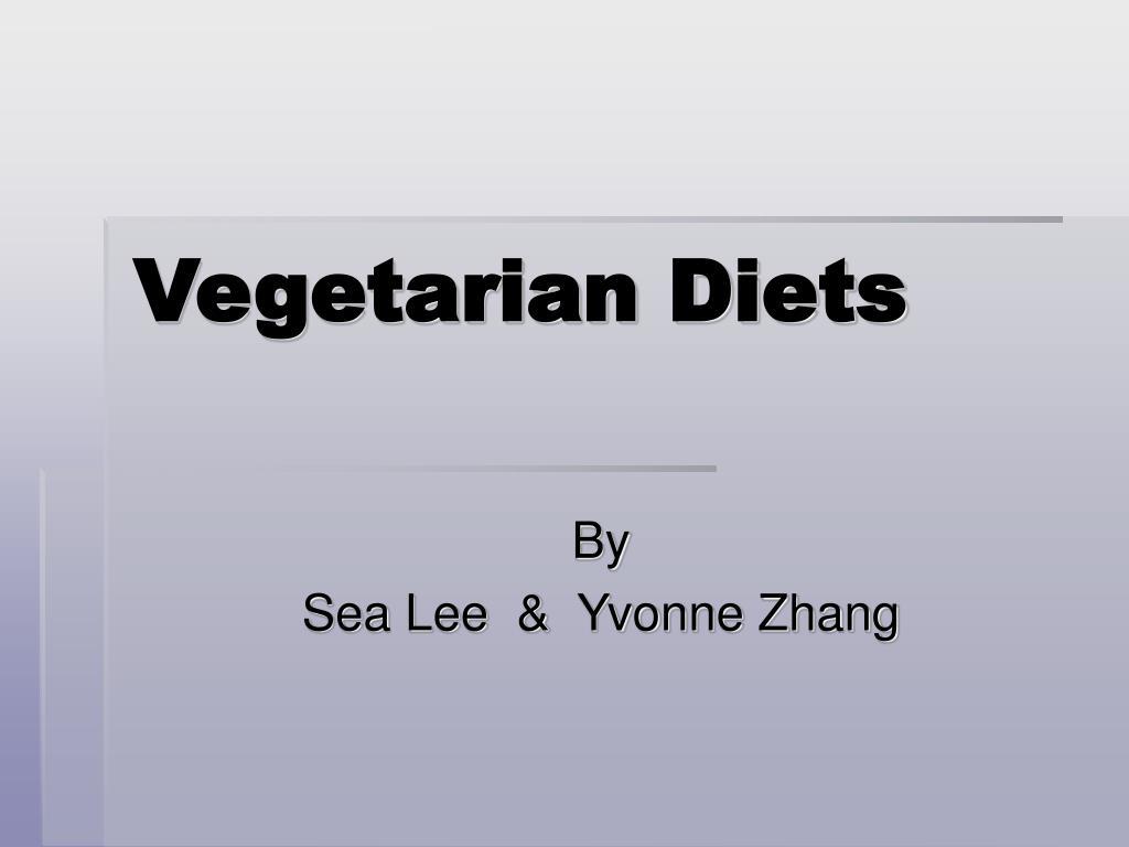 vegetarian diets l.