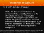 properties of web 2 012