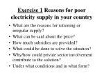 exercise 1 reasons for poor electricity supply in your country