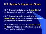 u t system s impact on goals