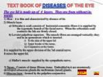 text book of diseases of the eye
