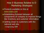 how e business relates to e marketing strategies