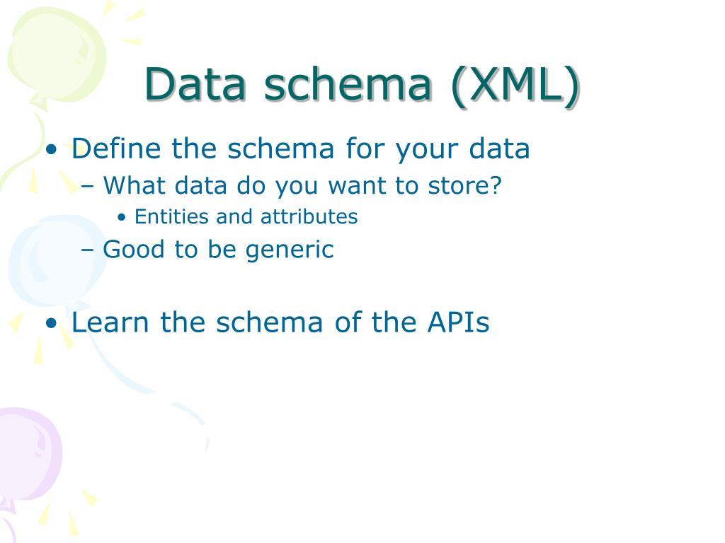 Data schema (XML)