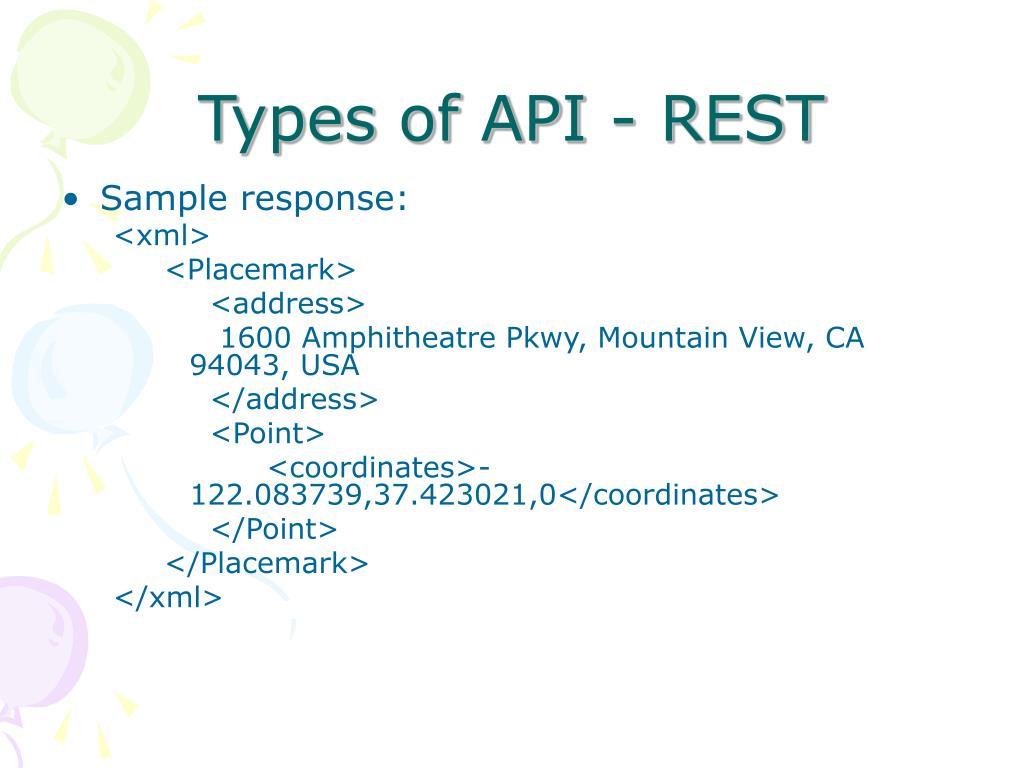 Types of API - REST