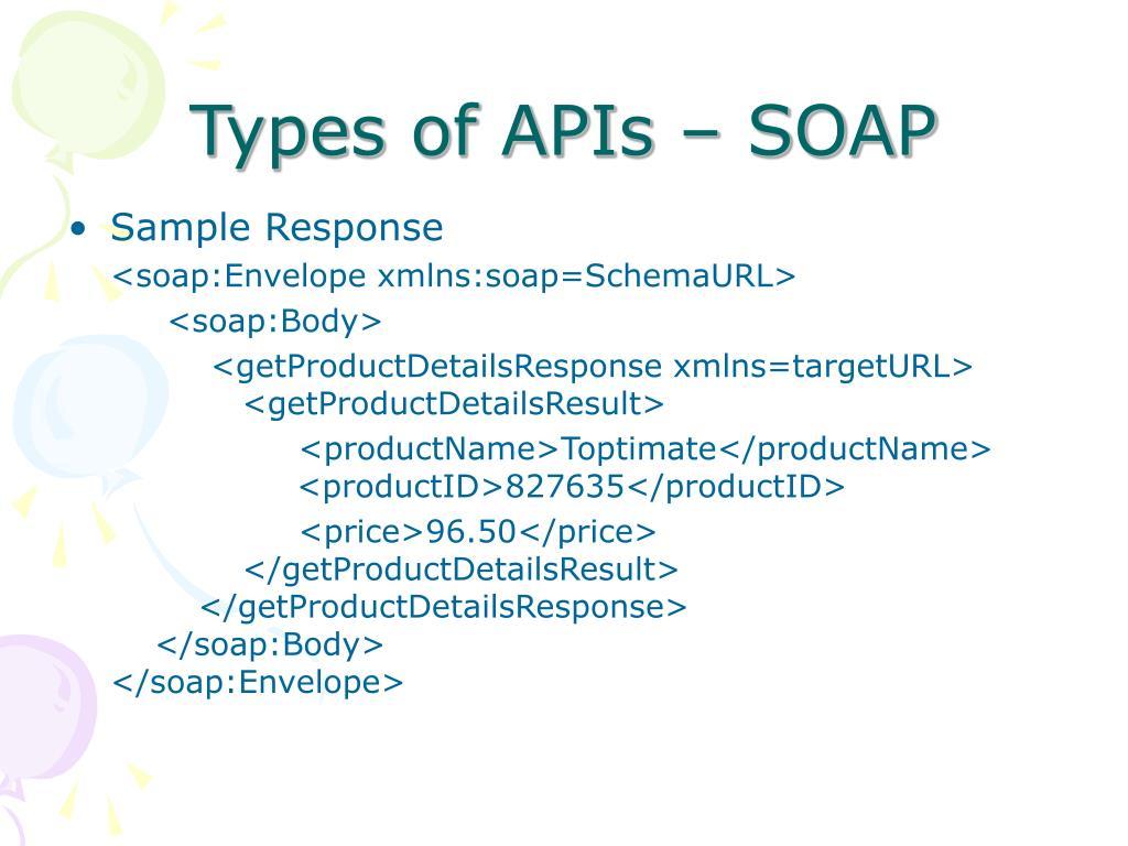 Types of APIs – SOAP