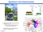 backhaul link experiments