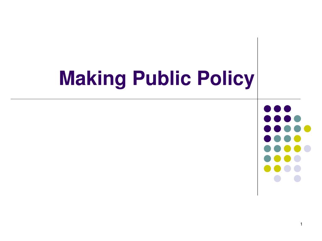 making public policy l.