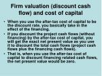 firm valuation discount cash flow and cost of capital