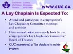 a lay chaplain is expected to62