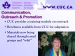 communication outreach promotion