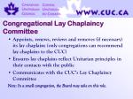 congregational lay chaplaincy committee