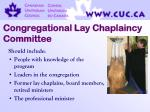 congregational lay chaplaincy committee27