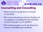 counselling and consulting