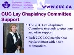 cuc lay chaplaincy committee support